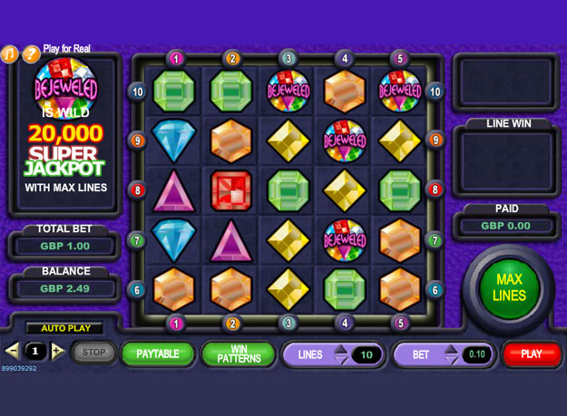 Bejeweled 2 Slots Screenshot