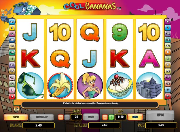 Cool Bananas Slots Screenshot