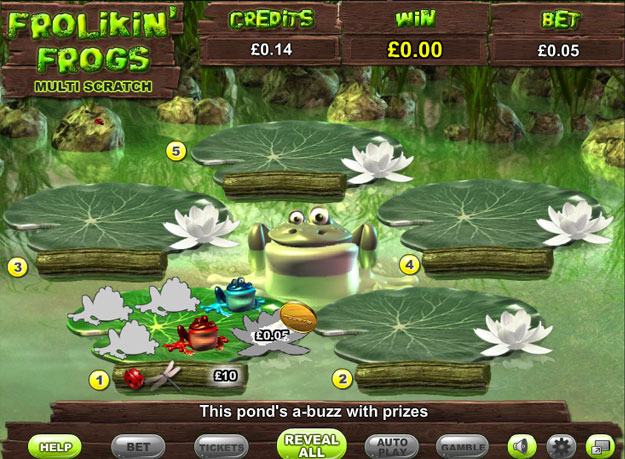 Frolikin' Frogs Multi Scratch Cards Screenshot